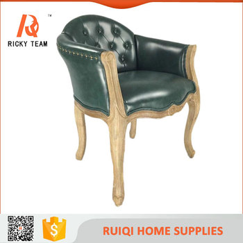 Barcelona Chair Italian Baroque Leather Cafe Chair Wooden Study Chair