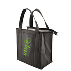 Factory Price Promotional Black Reusable Grocery Tote Cooler Insulated Shopping Bag
