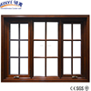 Beautiful picture aluminum window cladding wood casement window with grills