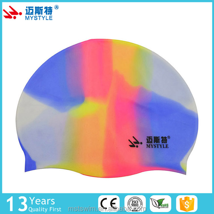Top grade hot sale high quality any color silicone swim cap