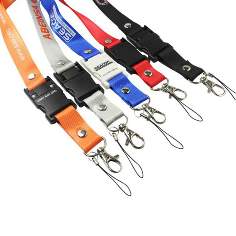 Nylon Lanyard Detachable Buckle Flash Drive 16gb For Promotion Gift