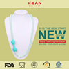 Handmade promotional silicone teething necklace for mom wholesale