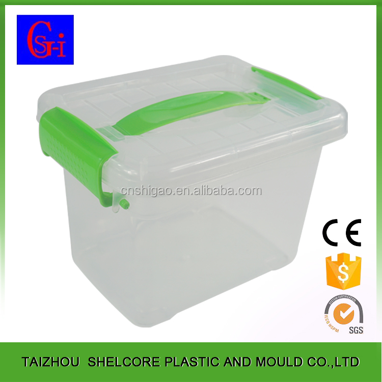 10L use convenient custom printed small stackable plastic storage box
