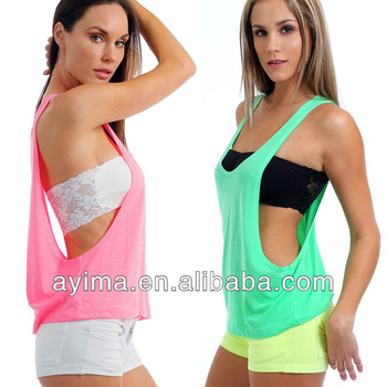 wholesale product t hot sexy plain juniors side drape with selling tank shirts detail drapes womens top open