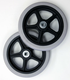 grey rubber caster wheel/electric wheelchair wheel