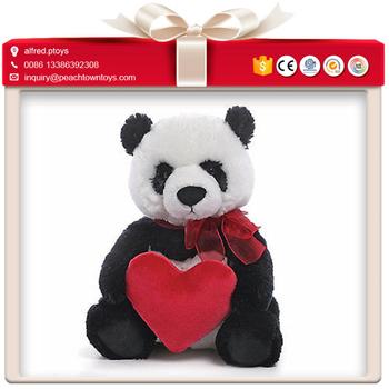 Valentine Gift Taking Red Heart Giant Panda Plush Toy Buy Giant