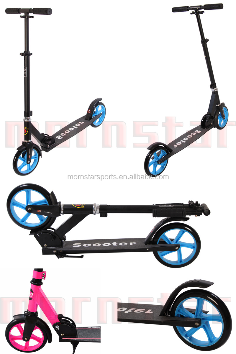 Adult Kick Scooters Folding Height Adjustable Big Wheel 200mm Scooter