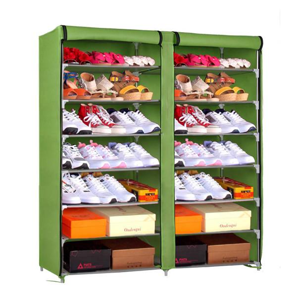 Sw muebles para el hogar de almacenamiento dormitorio de metal ajustable marmi organizador de - Muebles para zapatos ...