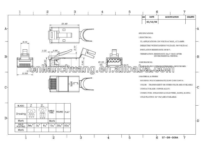 Rj45 Cat6a Plug Shielded 1 30 1 5mm Wire Hole Buy Rj45 Cat6a Plug Cat6a Modular Plug Cat7 Plug Product On Alibaba Com
