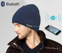 Bluetooth Beanie with Basic Knit, Color Charcoal
