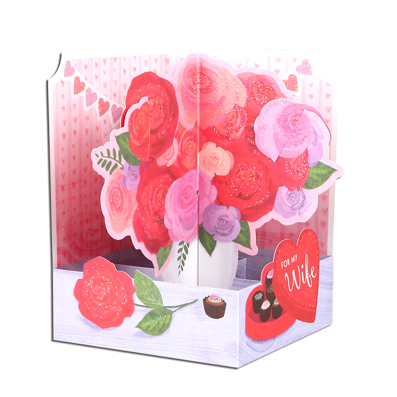 Latest 3D Red Hearts Designs Fancy Paper Pop Up <strong>Wedding</strong> <strong>Invitation</strong> Greeting Cards <strong>Luxury</strong> for Anniversary or Valentine