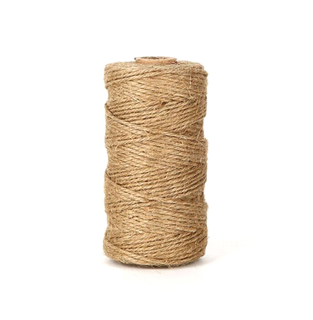 300 Feet Natural Jute Twine Best Arts Crafts Twine Industrial Packing Materials Heavy Duty Durable Natural Twine (Yellow)
