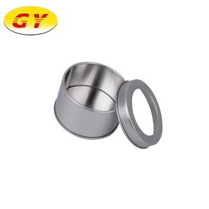 Tea packaging tin box with window round for food tin box