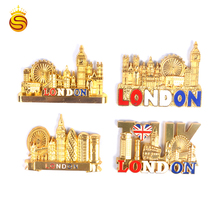 Hot koop gift 3d <span class=keywords><strong>metalen</strong></span> London eye building magneet souvenir