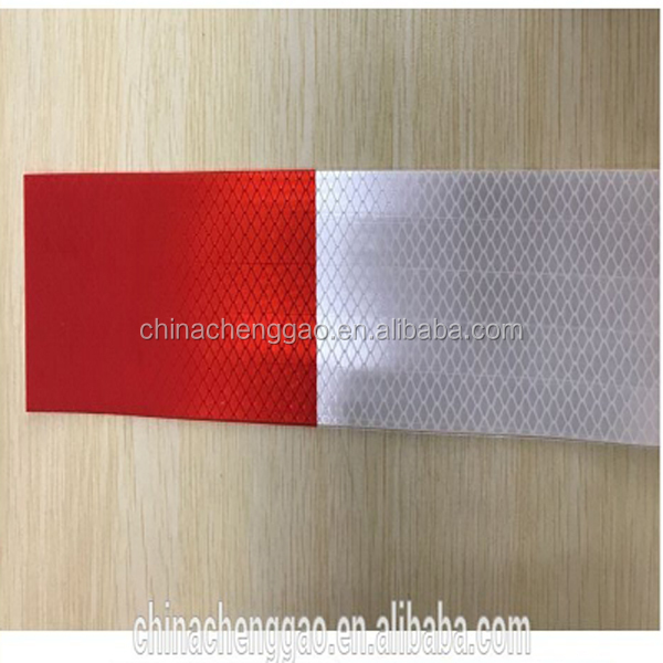 reflective 3m pvc sticker red and white vehicle reflective self adhesive traffic safety tape stickers
