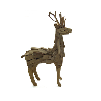 wooden deer wood reeindeer arts doe crafts figurine