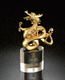 Custom design high quality metal dragon trophy with crystal