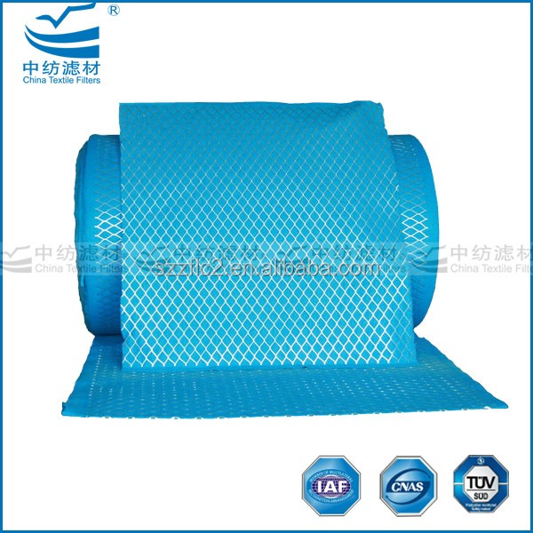 Hot sale primary filters,make to order raw filter material with galvanized mesh in white/blue and green color