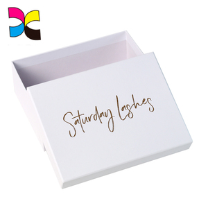 CMYK Color Logo In Lid And Base Structure Storage Luxury Clothing Packaging Box