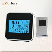 DCF-77 radio controlled clock/ weather station forecast clock