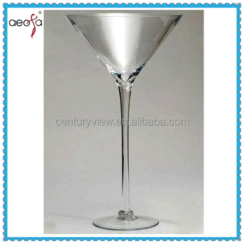 Wonderlijk Lange Stem Hand Made Grote Martini Glas Vazen Gebruikt Decorage PB-79