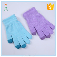 2017 custom hot winter acrylic women gloves knitted for touch screen