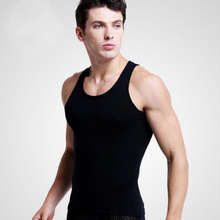 Sommer 100% <span class=keywords><strong>Baumwolle</strong></span> Männer Sleeveless T-shirt Plus Größe Sport Base Shirt Tanks