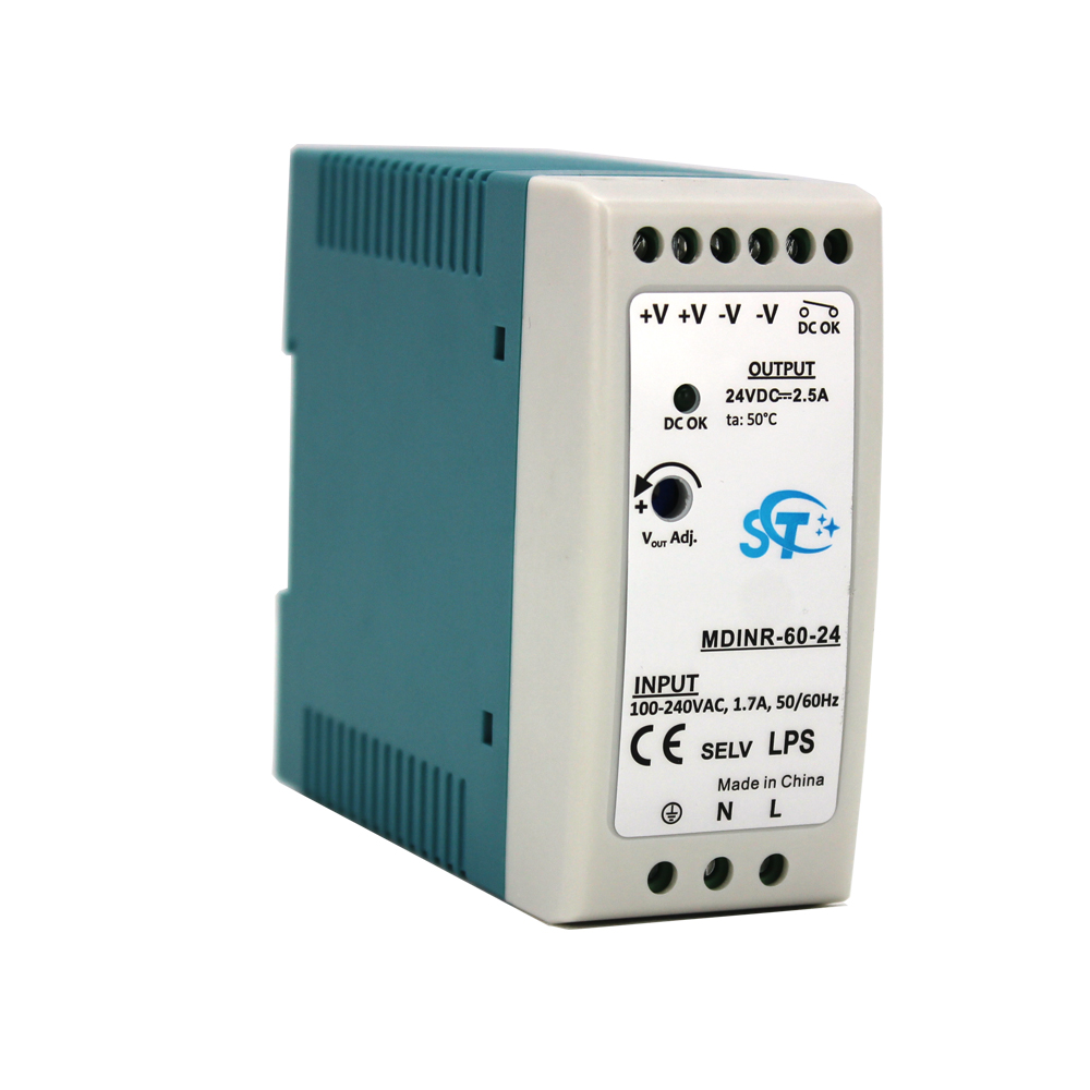 CE RoHS voeding ac dc poe adapter 220 v naar 12 v 60 w din rail adapter 12 volt 12 v 5a power circuit