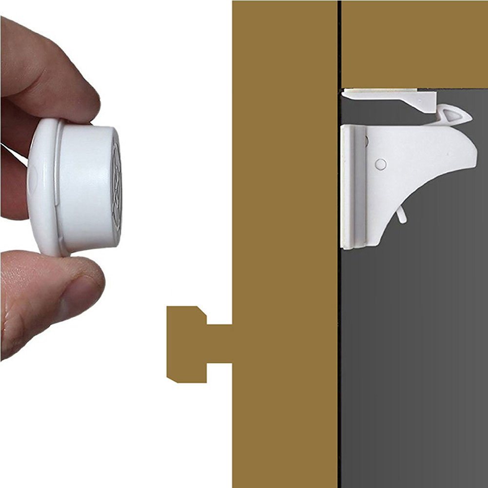 Get Quotations · Egoelife Child Safety Magnetic Cabinet Locks Invisible  Drawer Lock No Screws Or Drilling Needed For Door