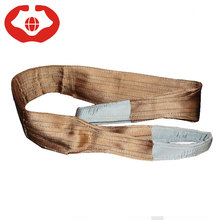 Strong strength 6 ton brown color unique polyester sling/belt lifting webbing