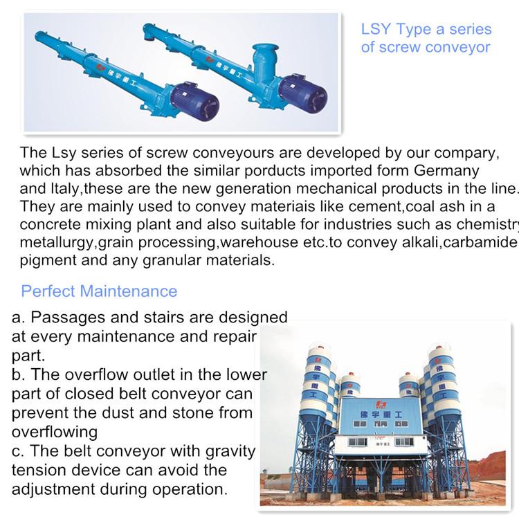HZS50 alto rendimiento hormigón plantas fijo premezclado mezclador de cemento agregado planta de hormigón