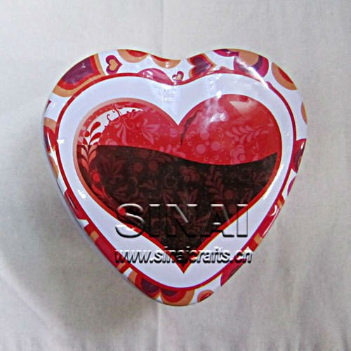 Wedding Favors Love Heart Candy Tin Box