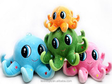 Cheap Price Cute PP Cotton Octopus Emoji Pillows Plush Toy