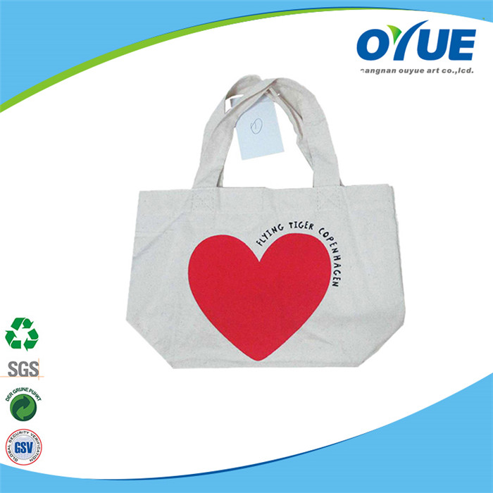 China manufacturer custom reusable promotional cotton white color eco-friendly canvas tote bag