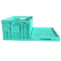 plastic superstore shopping food storage folding laundry kitchen mesh crate basket box container baskets