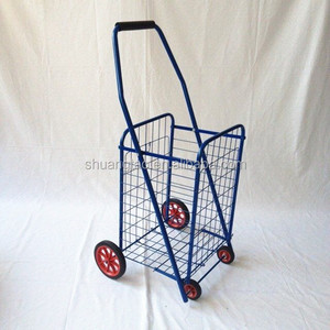 Trade Assurance portable folding shopping cart metal shopping trolley