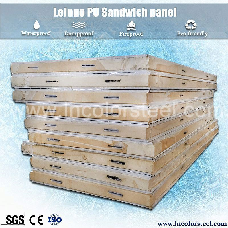 high flatness polyurethane sandwich cool room/cold room insulation panels