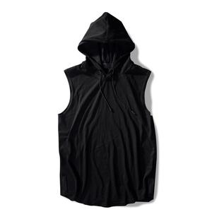 Custom Logo Blank Sleeveless European Style Men's Hoodies blank designer hoodies