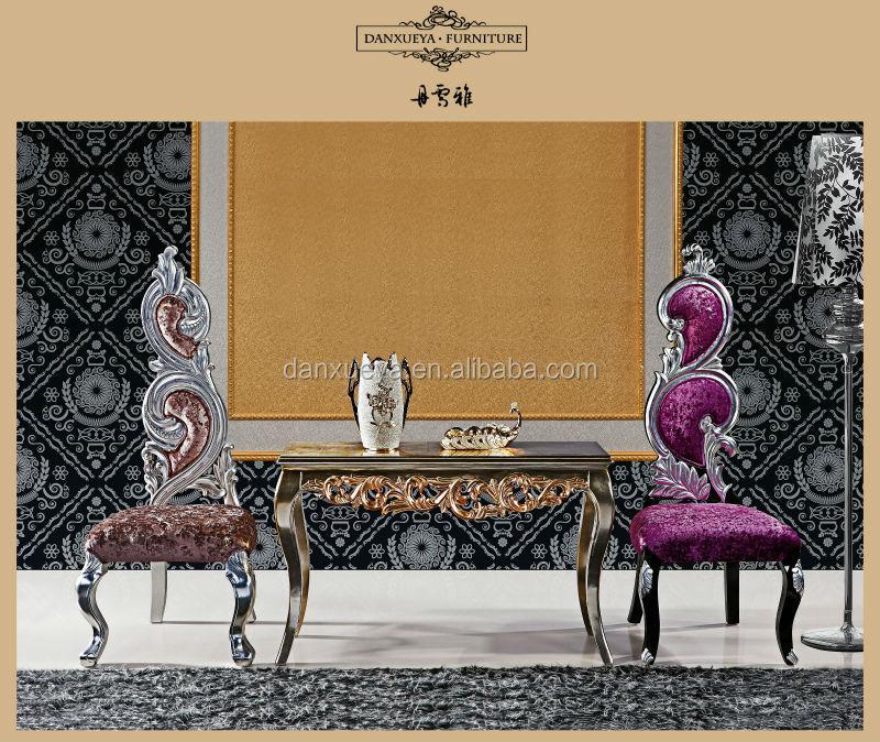 Plata real neo lujo rococ fabuloso barroco moderno sal n for Muebles estilo barroco moderno