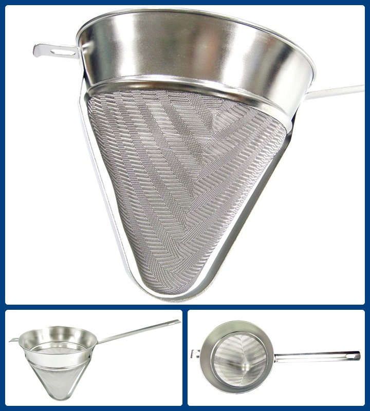 Conical Fine Mesh Kitchen Stainless Steel Bouillon