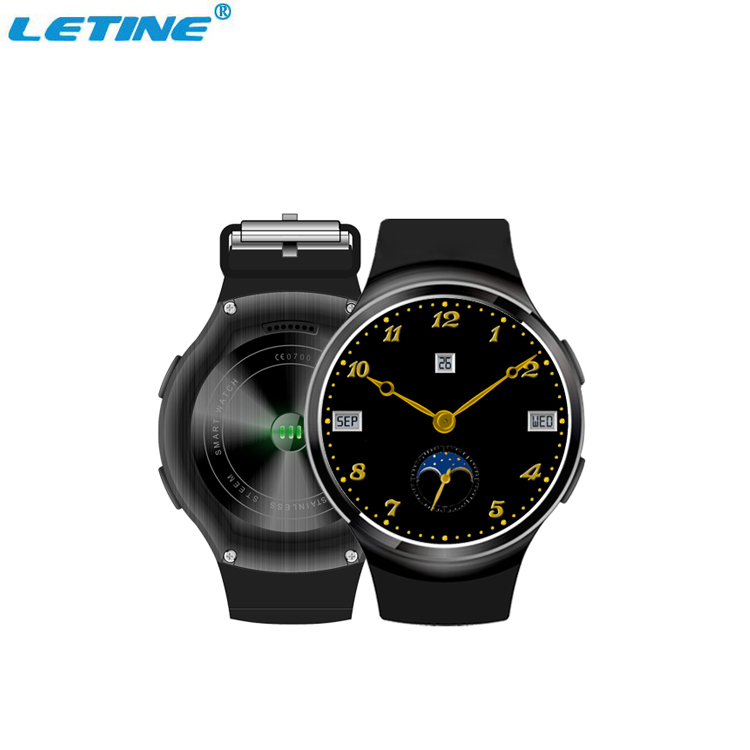 stainless steel pulse rate wrist watch with android system 1gb ram