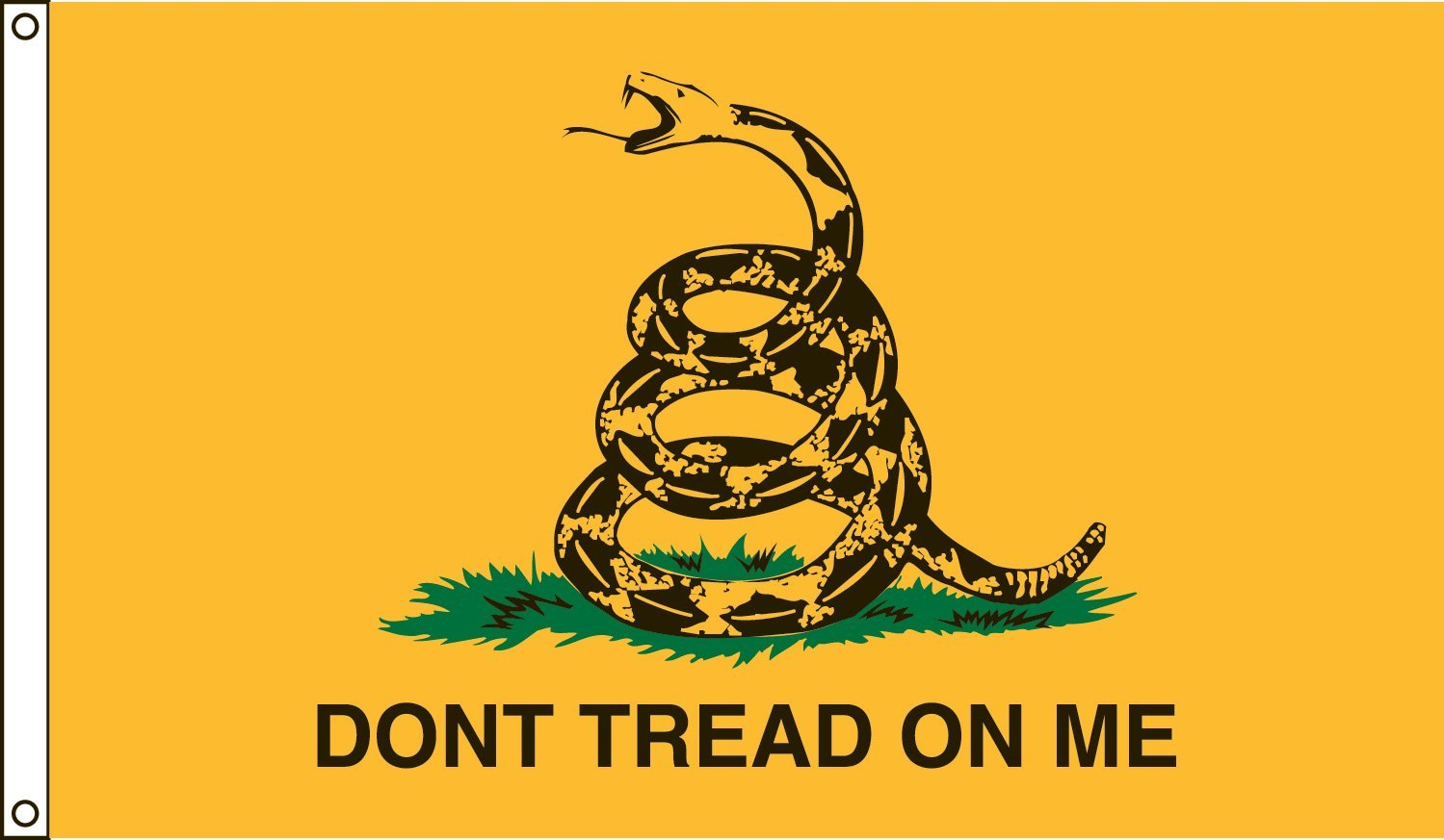 """Valley Forge Flag 3 x 5 Foot Nylon Gadsden """"Don't Tread On Me"""" Historical Flag"""