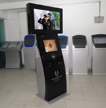 19 inch Dual Screen Check In And Check Out Self Service Kiosk, Credit Card Payment Kiosk