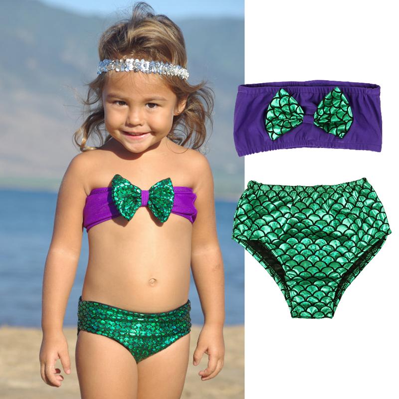 b3d062e20e969 Detail Feedback Questions about Girls Swimwear Mermaid 2017 Cute ...