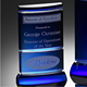 Custom blue blank crystal award trophy medal for engrave