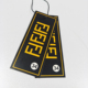 Glossy Hair Extensions Tag,Wholesale Logo Fabric Tags Product Hanging Tag
