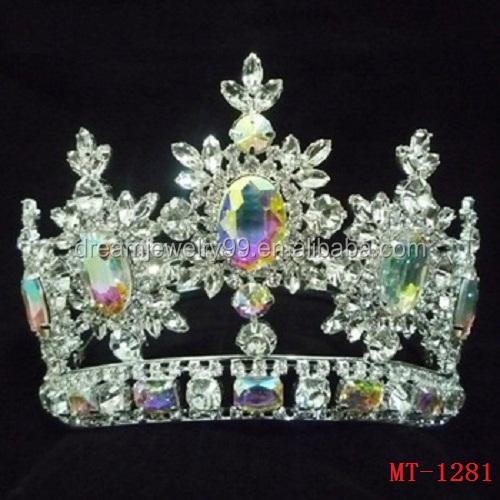 تيجان ملكية  امبراطورية فاخرة Fashion-full-crystal-crown-beauty-pageant-crowns