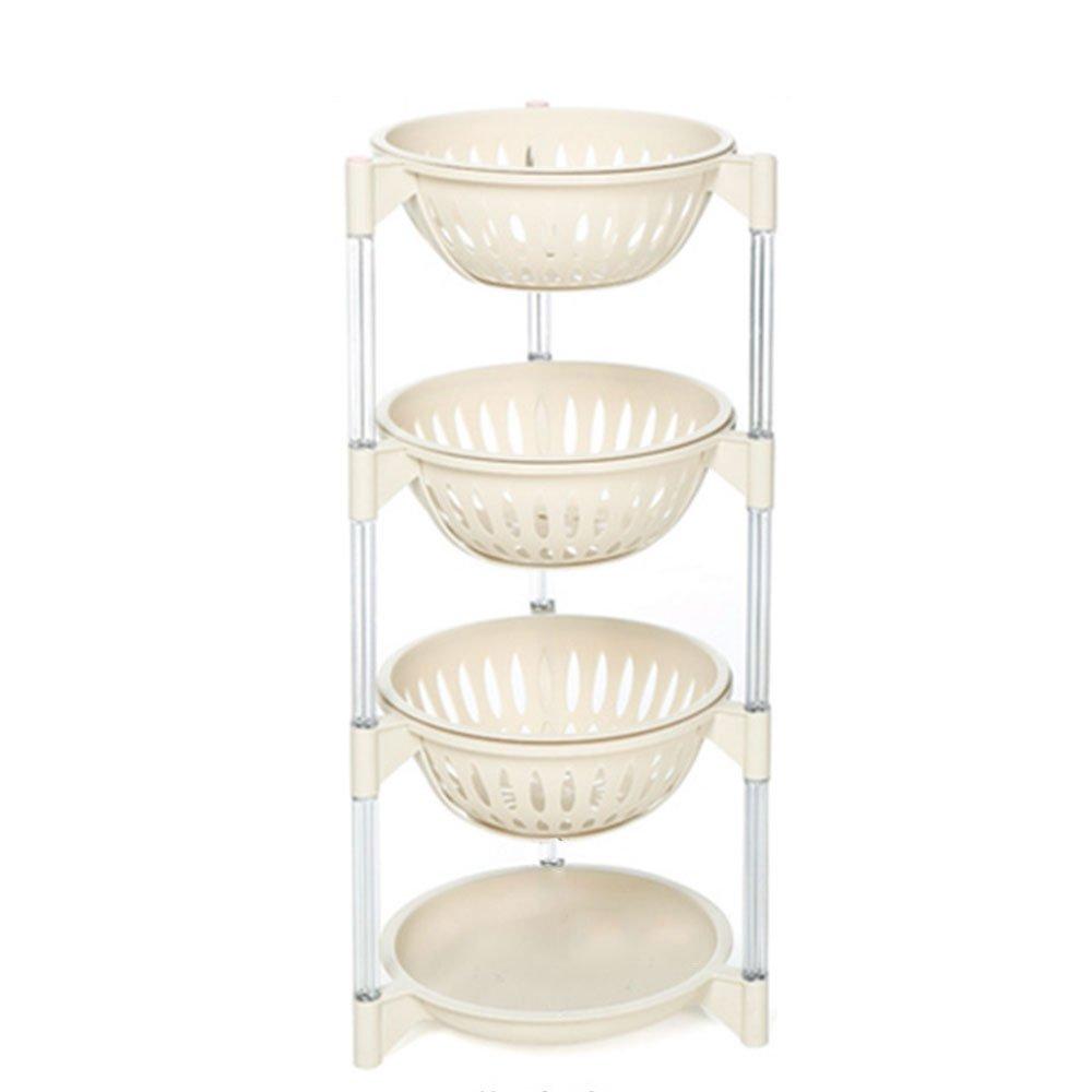 Get Quotations · Everyfit Kitchen Vegetable Shelf Storage Shelf Plastic  Storage Rack Storage Basket Of Fruits And Vegetables Multi