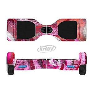 The Watercolor Bright Pink Floral Full-Body Wrap Skin Kit for the iiRov HoverBoards and other Scooter (HOVERBOARD NOT INCLUDED)