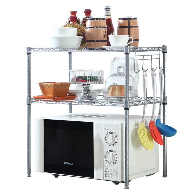 XM_226 extendable steel shelf microwave oven stand kitchen accessories storage rack